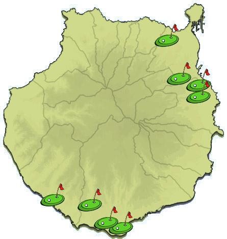 Mapa de Campos de Golf Gran Canaria